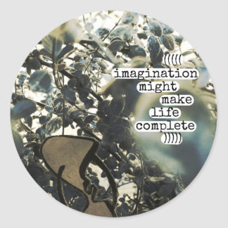 imagination might make life complete stickers