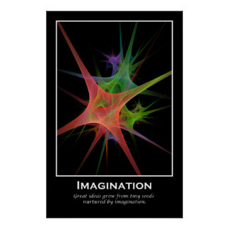 Imagination Motivational Print