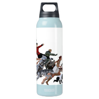 Imagination of a Child with Her Army of Friends Insulated Water Bottle