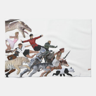Imagination of a Child with Her Army of Friends Kitchen Towel