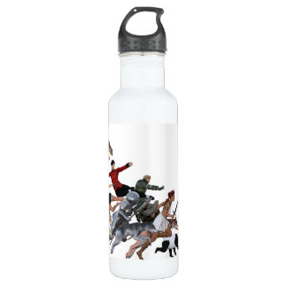 Imagination of a Child with Her Army of Friends Stainless Steel Water Bottle