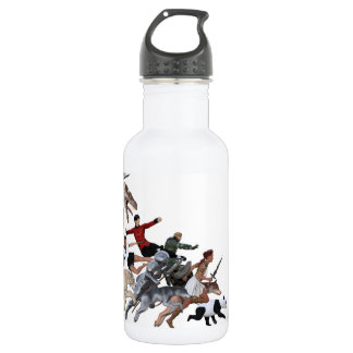Imagination of a Child with Her Army of Friends Water Bottle