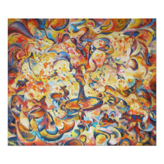 imagination original abstract art Poster