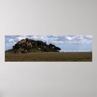 Imagination rules the world, Pride Rock, Serengeti Poster