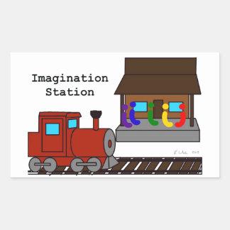 Imagination Station Rectangular Sticker