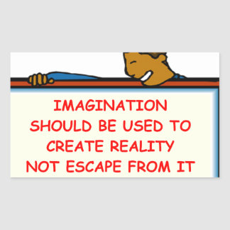 imagination rectangle stickers