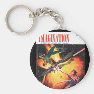 Imagination v04 n05 (1953-06.Greenleaf)_Pulp Art Basic Round Button Keychain