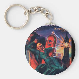 Imaginative Tales - 1956.01_Pulp Art Basic Round Button Keychain
