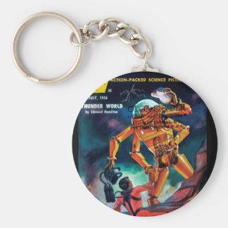 Imaginative Tales - 1956.7_Pulp Art Basic Round Button Keychain