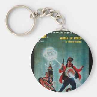 Imaginative Tales - 1957.7_Pulp Art Basic Round Button Keychain