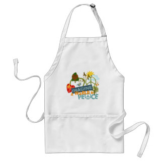Imagine a World in Peace Adult Apron
