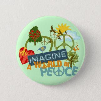 Imagine a World in Peace Button