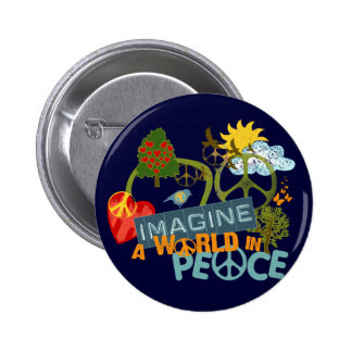 Imagine a World in Peace Pins