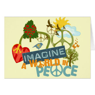 Imagine a World in Peace Card