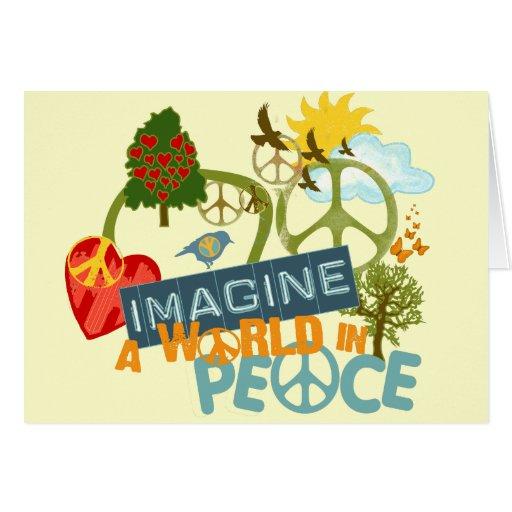 Imagine a World in Peace Card