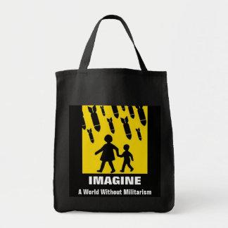 imagine a world without militarism bag