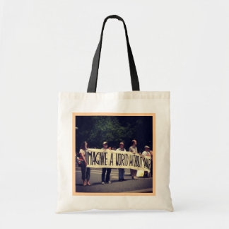 Imagine a World Without War Tote Canvas Bag