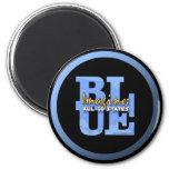 Imagine All 50 States Blue Magnet