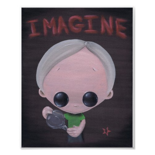 imagine art print print