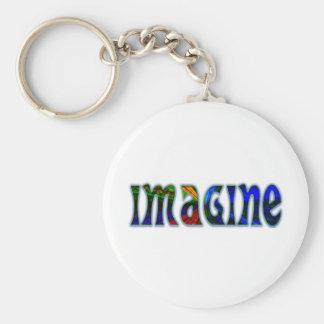 Imagine Basic Round Button Keychain