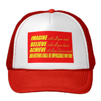 Imagine, Believe, Achieve Trucker Hat