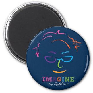 Imagine Bernie Sanders 2016 - brushstrokes 2 Inch Round Magnet
