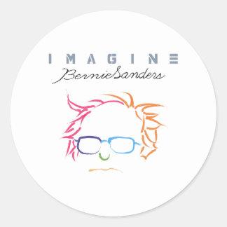 Imagine Bernie Sanders Classic Round Sticker