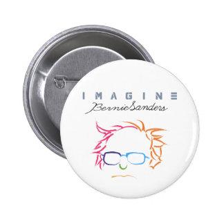 Imagine Bernie Sanders Pinback Button