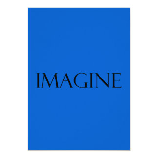 Imagine Blue Quotes Inspirational Quote Card