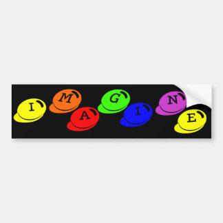 Imagine Bumper Sticker Car Bumper Sticker