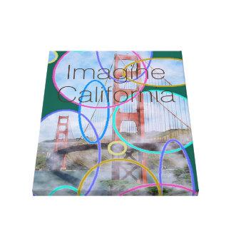 Imagine California Canvas Print