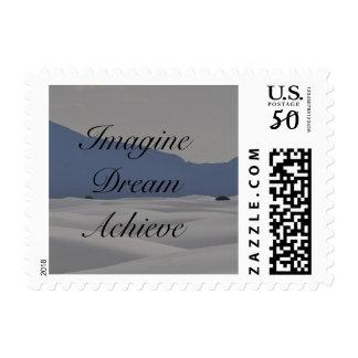 Imagine, Dream, Achieve Postage stamp