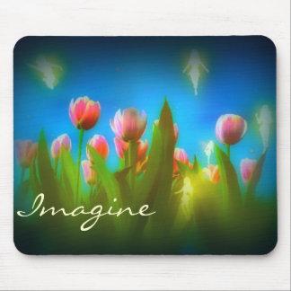 Imagine fairy garden Mousepad