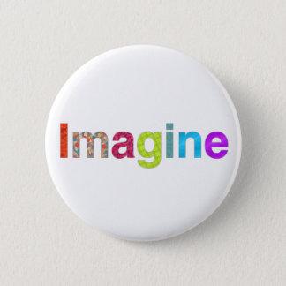 Imagine fun colorful inspiration gift button