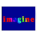 Imagine in Rainbow Color Lettering Cards