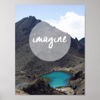 """Imagine"" Inspirational Poster"