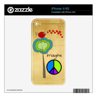 Imagine iPhone Cases and Electronics Cases Decal For The iPhone 4