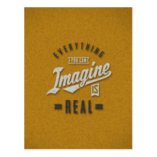 Imagine is Real Inspirational Quotes Postcard