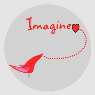 """Imagine""---John Gifts Classic Round Sticker"