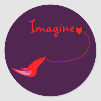 """Imagine""---John Gifts Stickers"