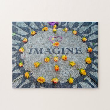 USA Themed Imagine Memorial New York. Jigsaw Puzzle