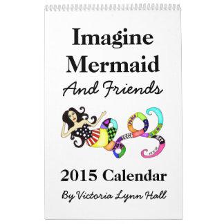Imagine Mermaid & Friends 2015 Calendar