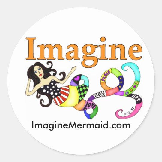 Imagine Mermaid Muse Stickers
