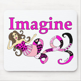 Imagine Mermaid Pink Edition Mouse Pad