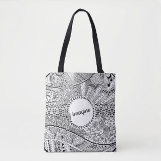 Imagine (monochrome) tote bag