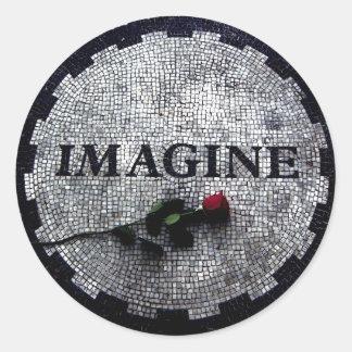 Imagine Monument Classic Round Sticker