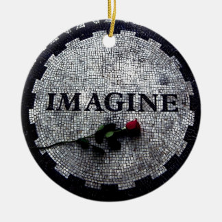 Imagine Monument with Red Rose Ornaments