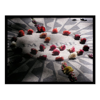 Imagine Mosaic Central Park Postcard