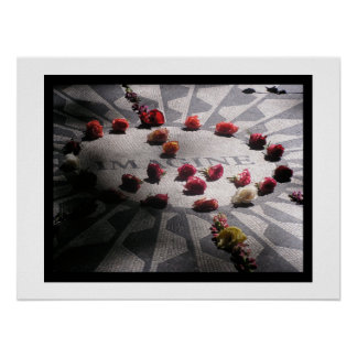 Imagine Mosaic Central Park Poster