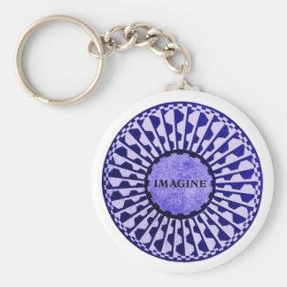 Imagine Mosaic, Strawberry Fields, Central Park 01 Basic Round Button Keychain